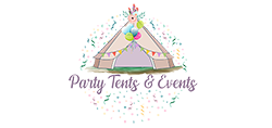 party tents events logo website smaller